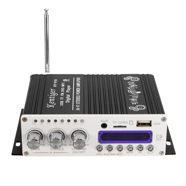 Kentiger ™ HY-V10 Mini Bluetooth Hi-Fi Stereo Усилитель Bass Booster MP4 12V для Авто мотоцикл