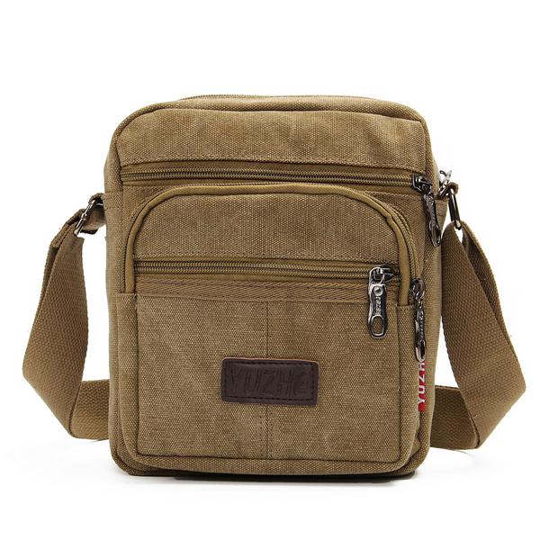 Мужские повседневные наплечные сумки на холсте Multi Pocket Crossbody Сумки
