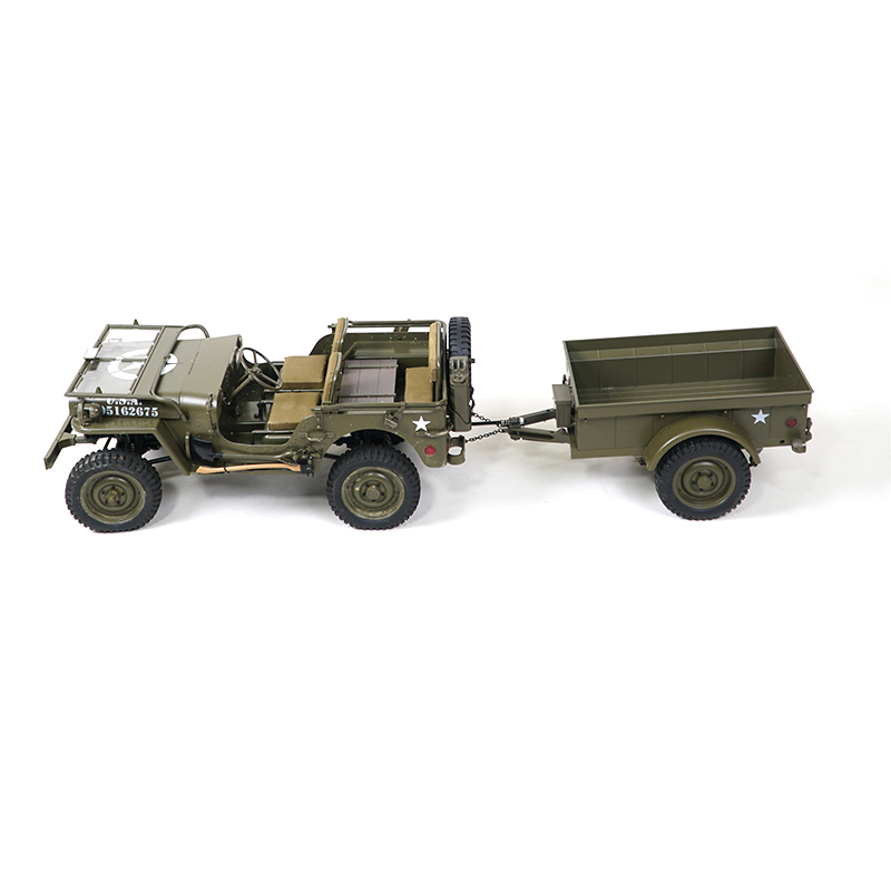 ROCHOBBY Trailer for 1//6 1941 MB Scaler RC Car Vehicle Models ABS