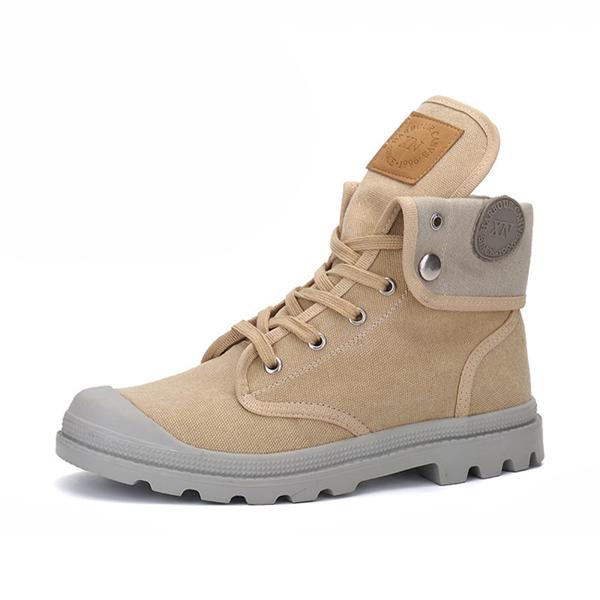 Кружева теплая шерстяная подкладка круглый носок Soft подошва короткая Ботинки для мужчин