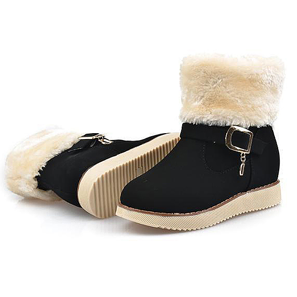 76a26e1f3 Girls Winter Shoes Kids Warm Ankle Boots Nubuck Leather Snow Boots Cotton  Snow Increased Shoes