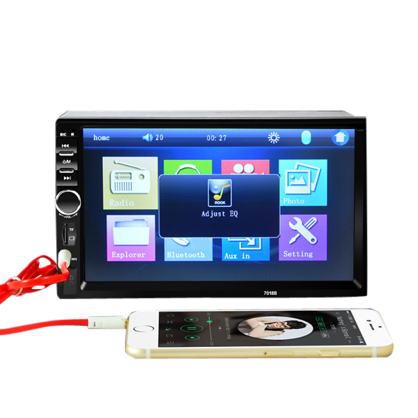 7018B Car Stereo 7 Inch HD bluetooth Touch Screen MP5 MP4 Display Short  Version support Rear View