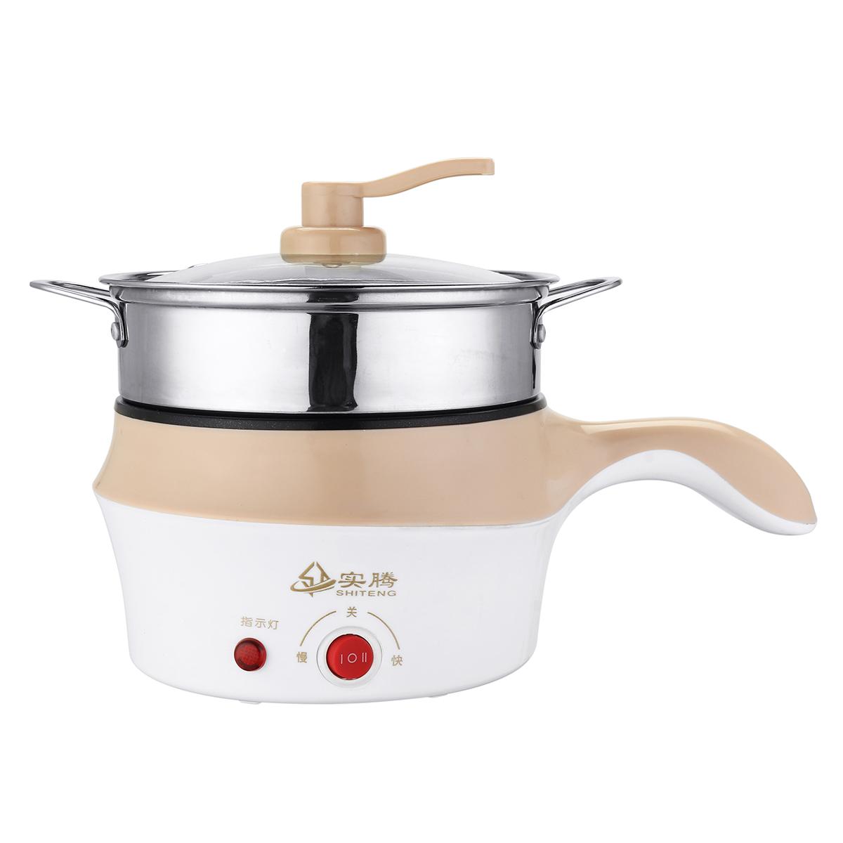 1.8LДвухслойнаянержавеющаястальМини-электрическийгоршок с плитой Кулинария Fry Stew