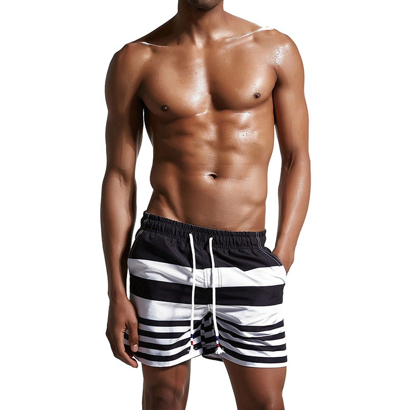 Men's Board Shorts Breathable Quick Drying Lightweight Casual Beach Board Drawstring Loose