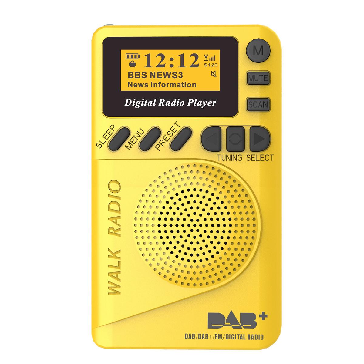 DAB+ Digital FM 174–240MHz Radio LCD Display SD Card Speaker Music MP3 Player Loudspeaker