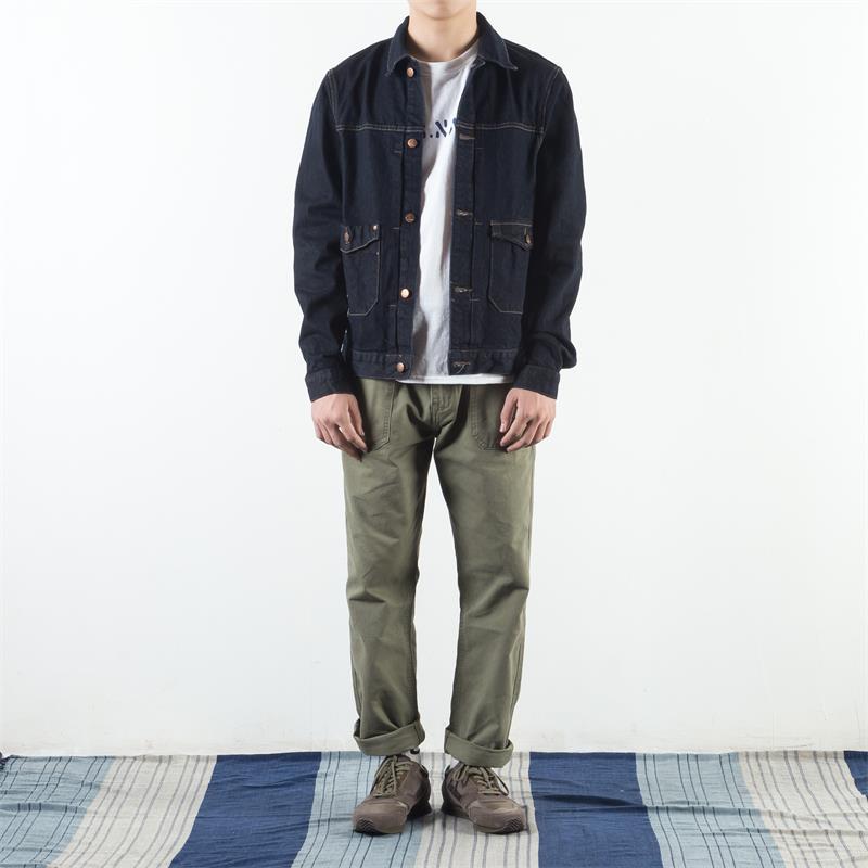Mens 100% Cotton Solid Color Loose Pants