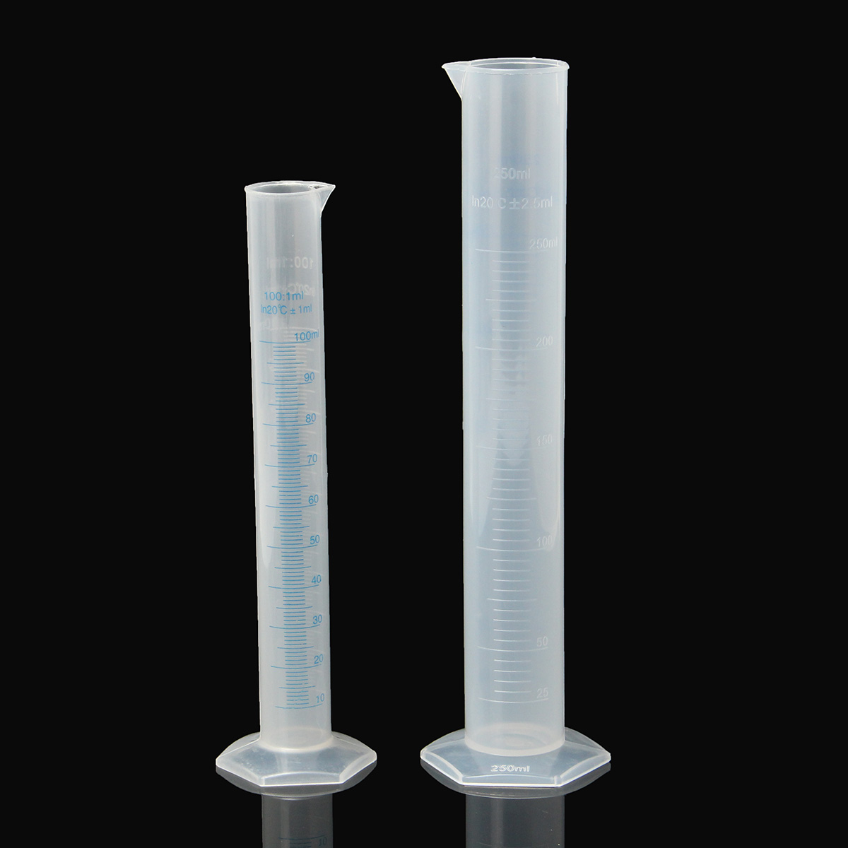 100ml 250ml Plastic Test Jar Measuring Cylinder For Beer Wine Homebrew Lab