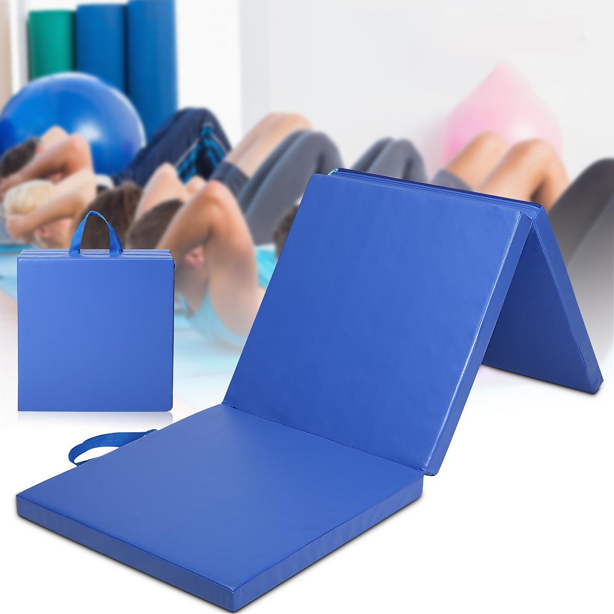 70×23×2بوصة 3 طيات الجمباز حصيرة Yoga ممارسة رياضة المحمولة airtrack لوحة تراجع تسلق بيلاتيس سادة وسادة