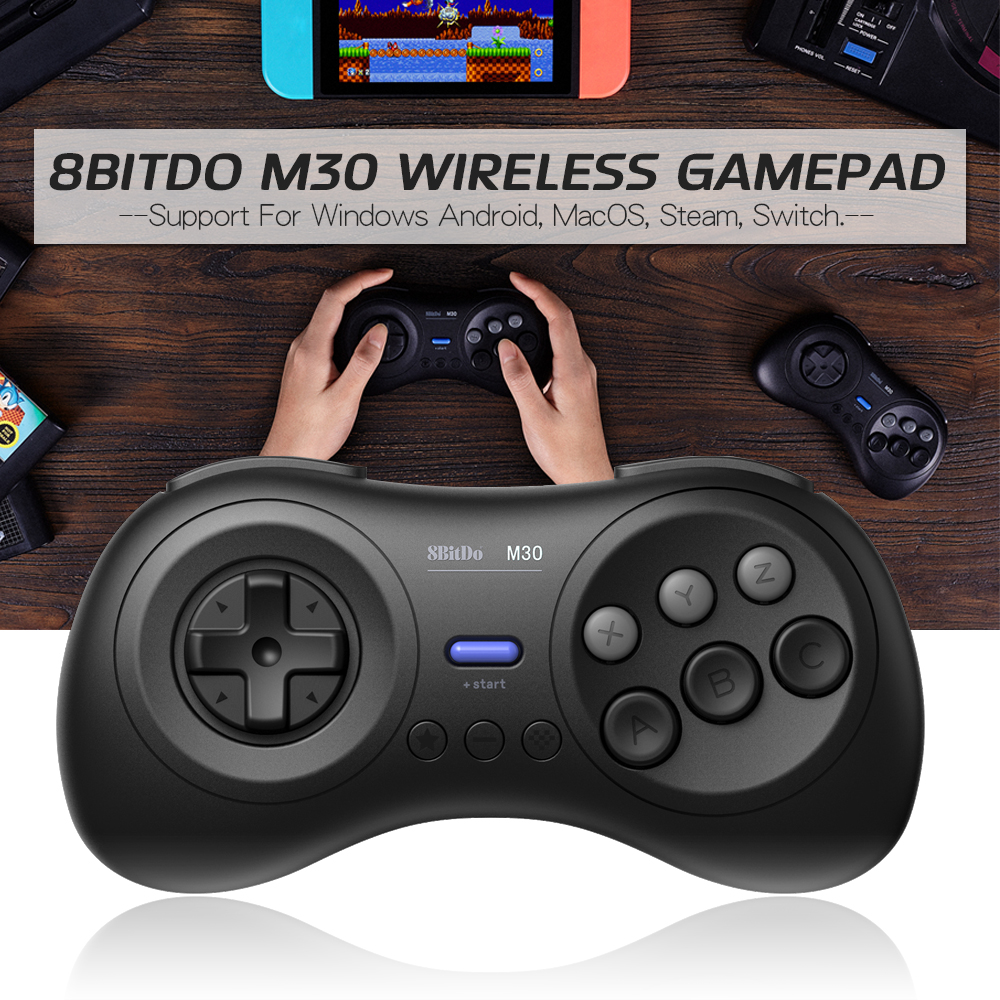 8Bitdo M30 bluetooth Wireless Gamepad Game Controller for Nintendo Switch for Steam MacOs Android for Windows