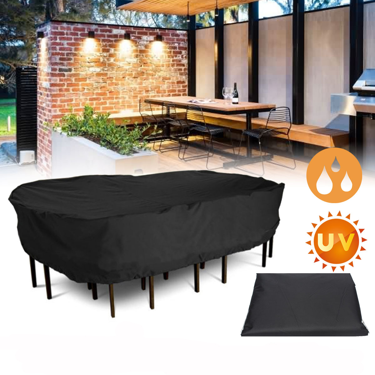 Cool Garden Patio Furniture Winter Cover Waterproof Large Rectangular Table Chair Covers Bralicious Painted Fabric Chair Ideas Braliciousco