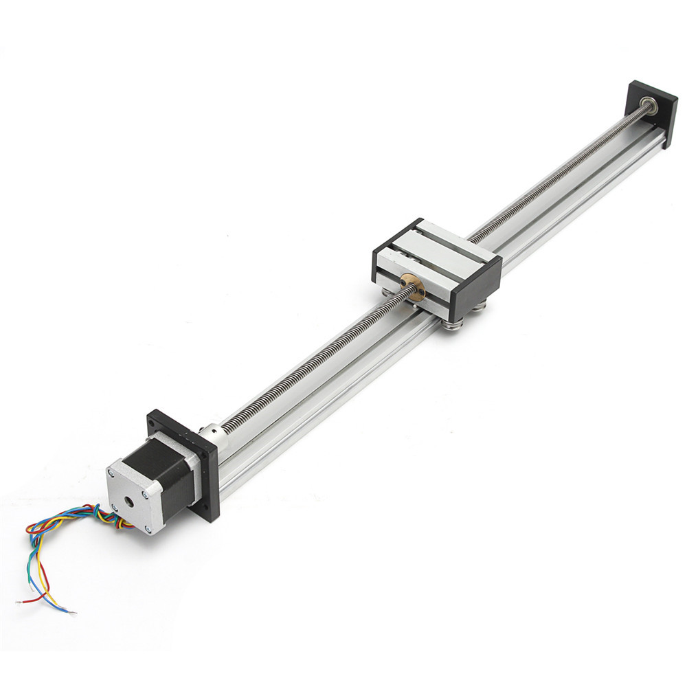 500mm Stroke Linear Actuator CNC Linear Motion Lead Screw Slide Stage with  Stepper Motor
