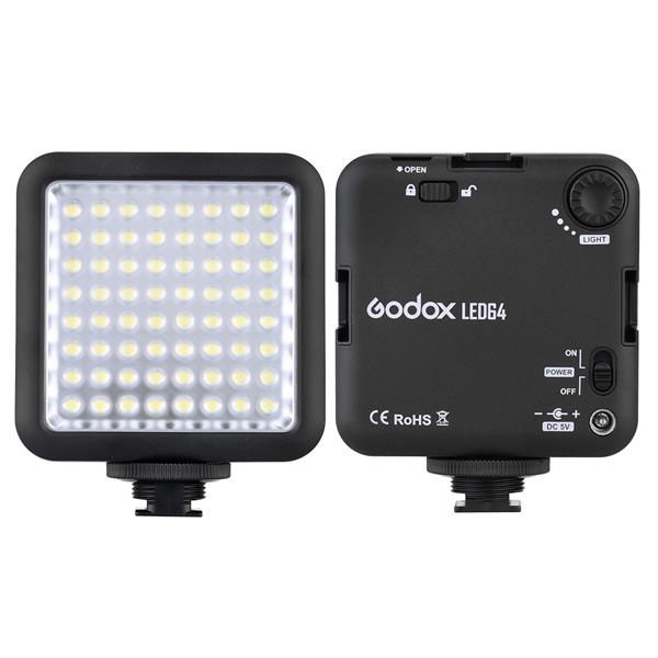 Godox LED64 LED Лампа Видеолампа для DSLR камера Видеокамера мини Видеорегистратор Интервью Макросъемка
