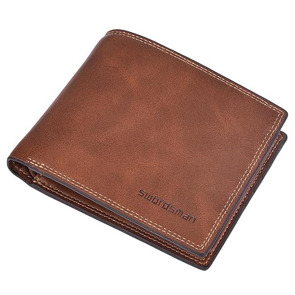 Männlich kurze Brieftasche Kreditkarteninhaber Soft Bifold minimalistische Brieftasche mit 10 Card Slots