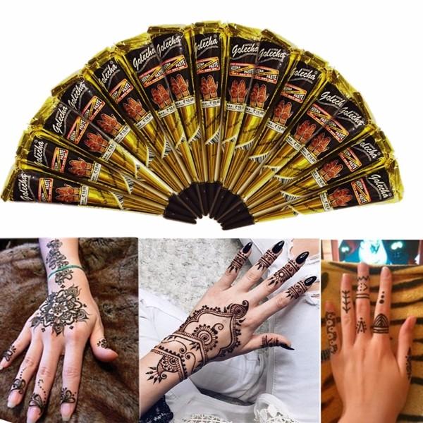 3шт черный естественный травяной хны конус бренное тело татуировки выпадение волос искусство татуировки
