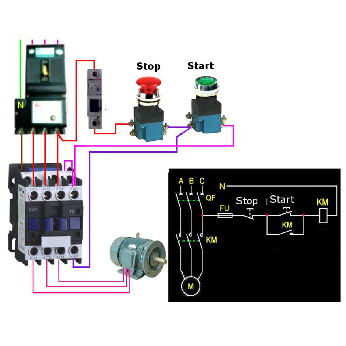 Phase Contactor Wiring Diagram On Compressor Relay Wiring Diagram