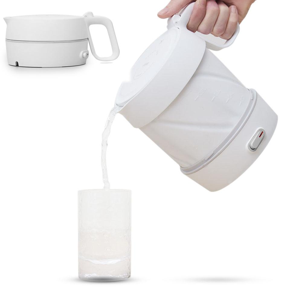 HappyLIfeHL600Вт/1 л Складной электрический чайник Ручной Мгновенный нагрев Электрический чайник для воды Автоматическое отключ фото