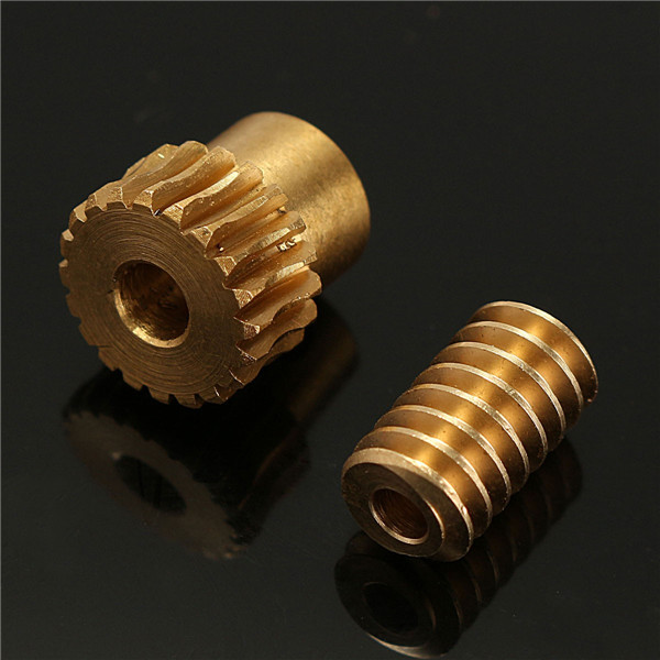 0.5 Modulus Reduction Ratio of 1:10 Motor Output Copper Worm Wheel Gear