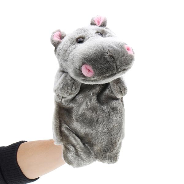 Детские плюшевые игрушки Смазливая мультфильм Hippo Hand Puppet Baby Kids Кукла Плюшевые игрушки ручной куклы