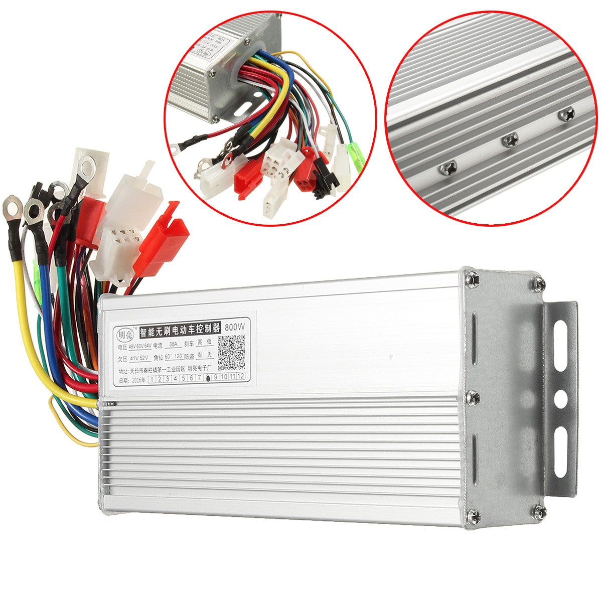 48V to 64V 800W Electric Bicycle E-bike Scooter Brushless DC Motor Speed Controller
