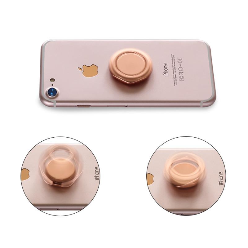 Bakeey Металл Fidget Spinner 360 градусов вращения Настольный телефон держатель Finger Ring подставка для Xiaomi