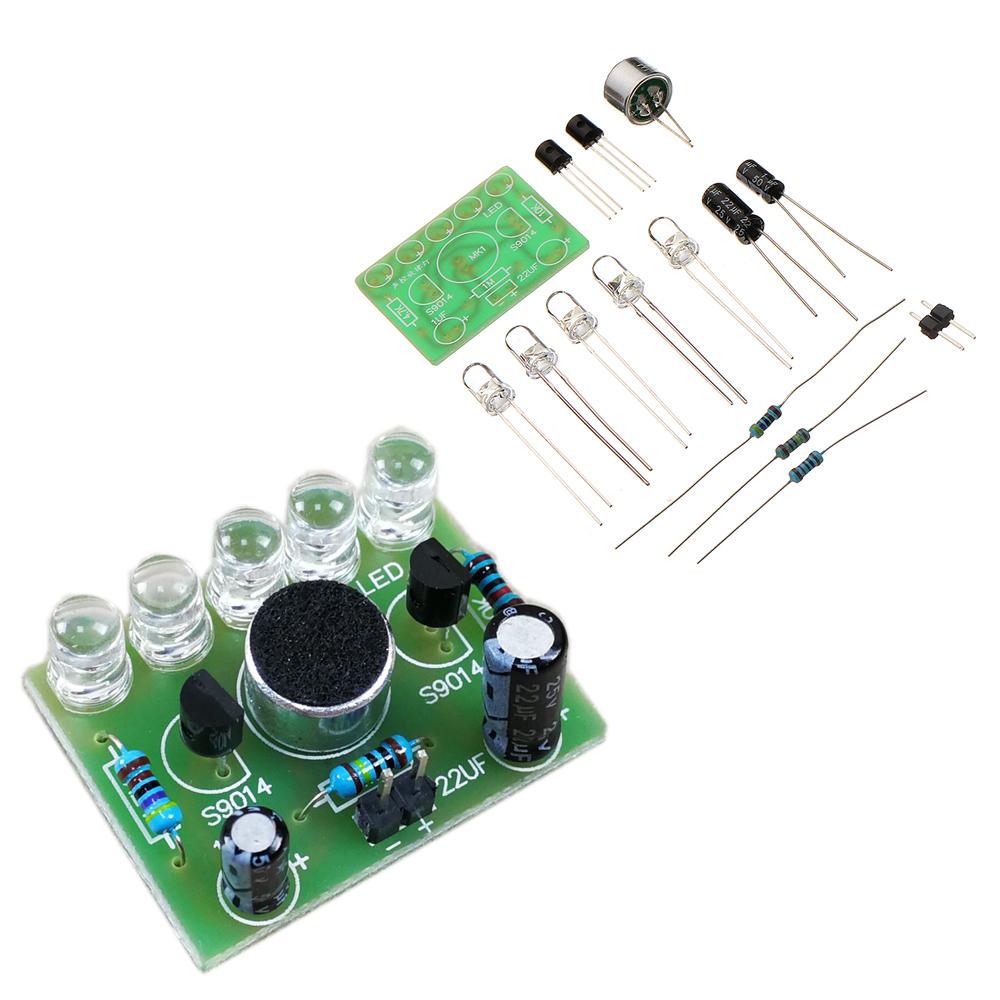 DIY Голосовой контроль освещения мелодии 5MM Highlight DIY LED Flash Электронная подготовка Набор