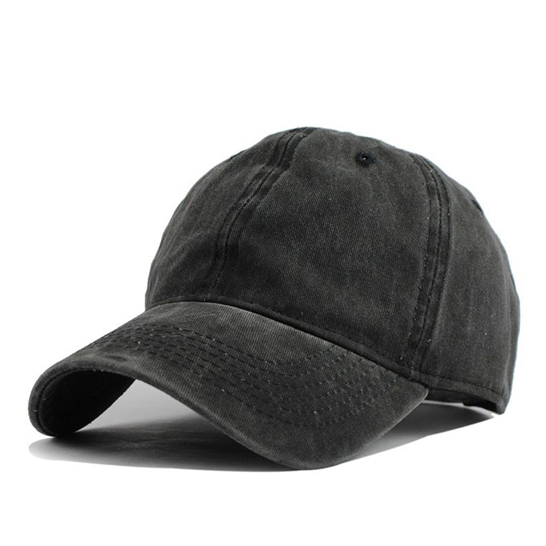 baecadf97 Mens Summer Adjustable Washed Denim Baseball Caps Outdoor Trucker Cap Dad  Hats