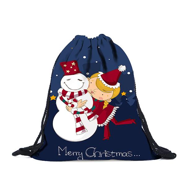 РождественскийрюкзакдляпечатиМногоцветныйХлопок Хранение B