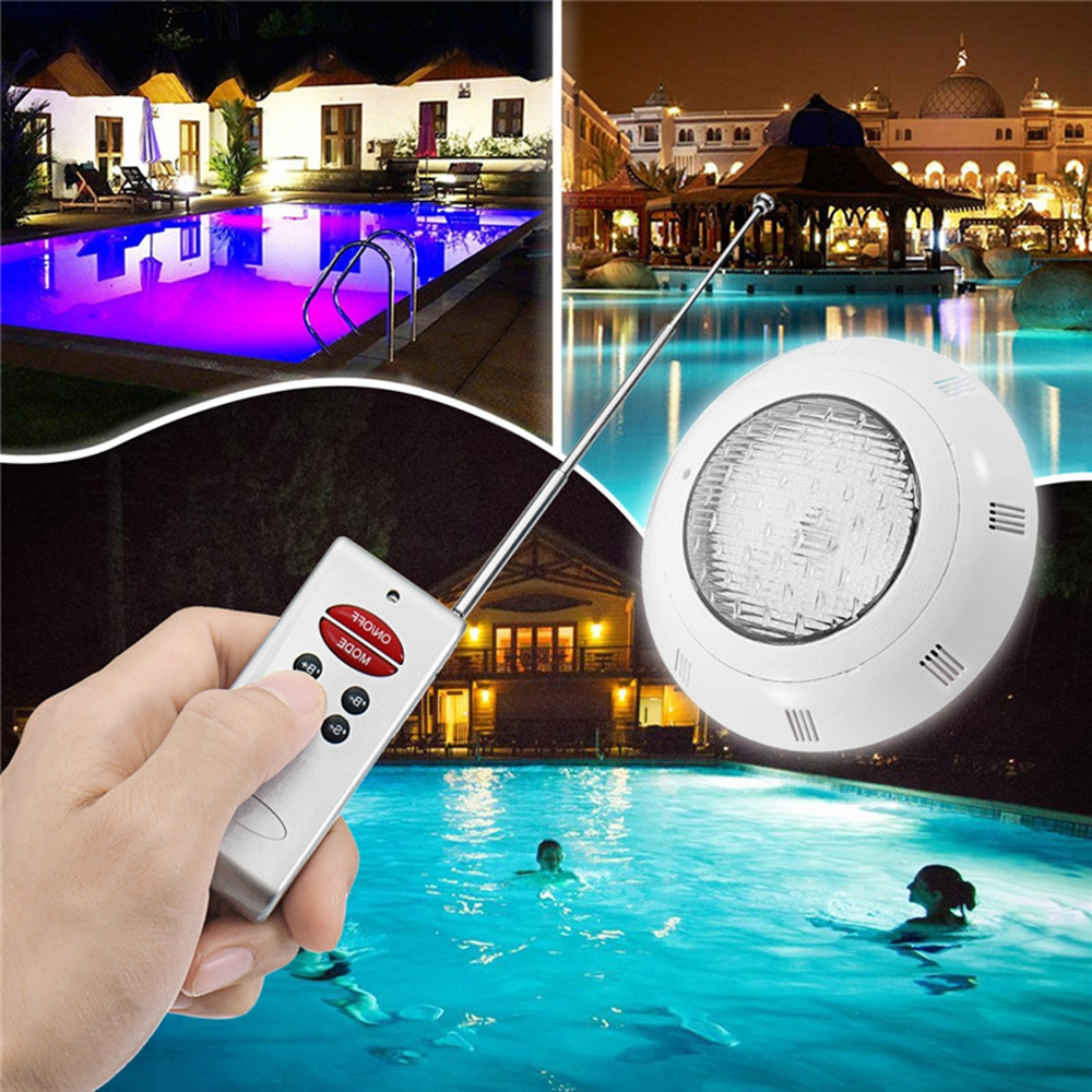 18w rgb led swimming pool light underwater waterproof remote control ...