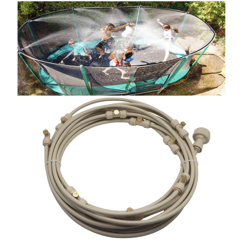 6-18M Outdoor Mist Coolant System Beige Misting Cooling Kit for Greenhouse Garden Patio Watering Irrigation System