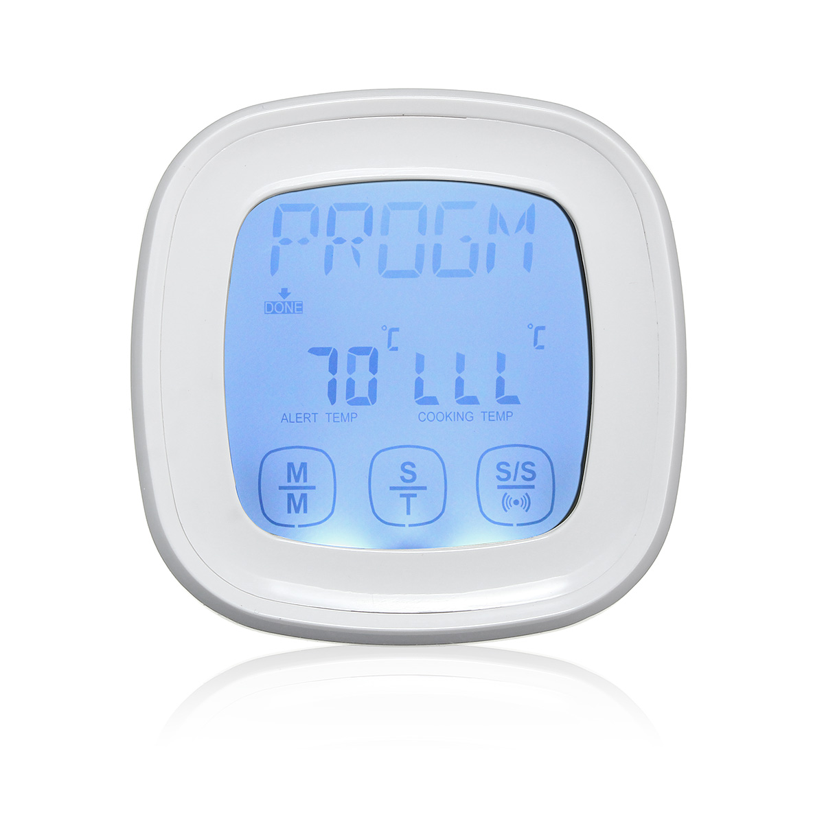 0-250 °C Touch Screen Kitchen Food Digital Display Barbecue Thermometer LCD Timer Electronic With Backlight