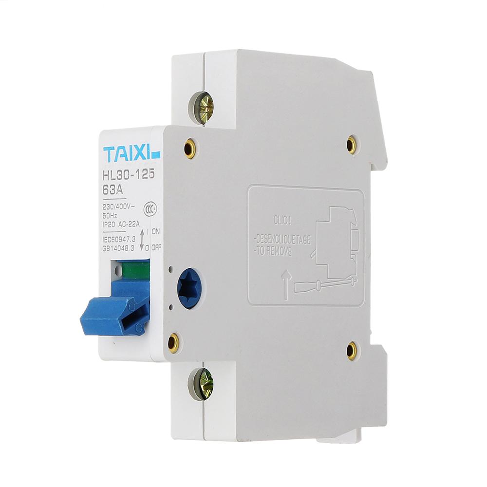 TAIXI®HL30-632P63AАвтоматическийвыключатель 230 В MCB Выпрямительный выключатель постоянного тока C