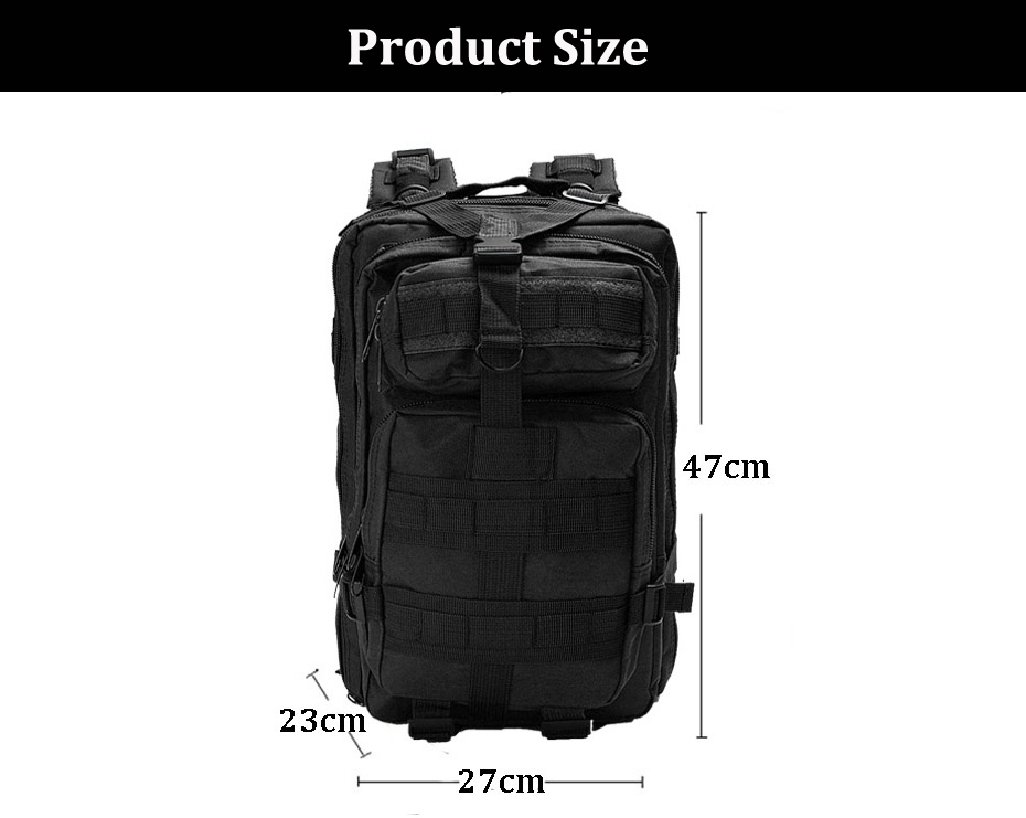IPRee® 30L Outdoor Tactical Backpack 600D Nylon Waterproof Camouflage Trekking Rucksack