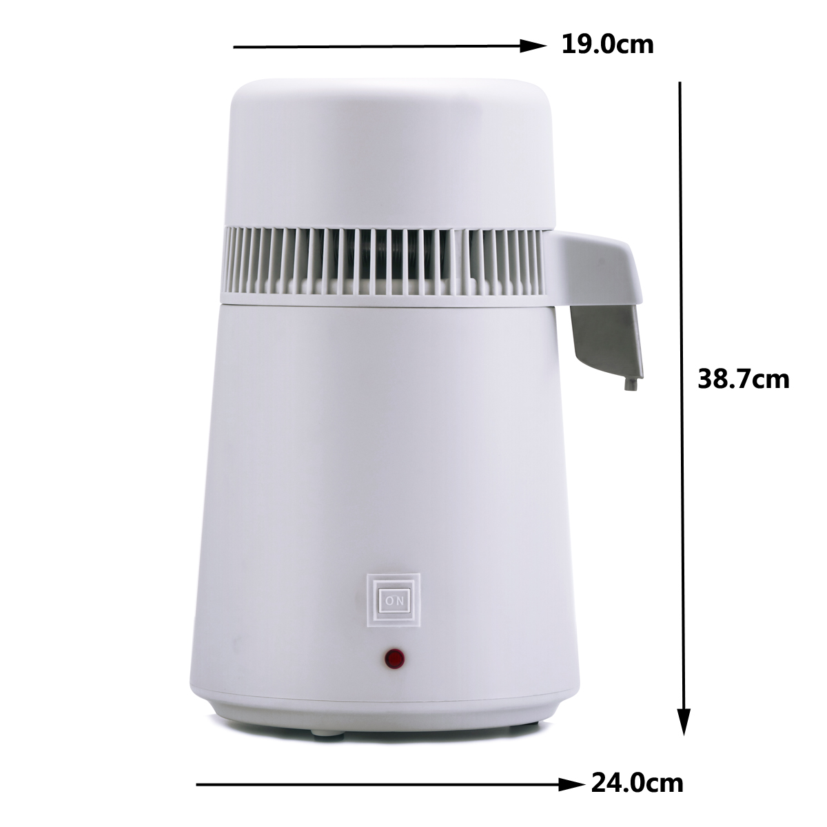 4L 220V 750W Stainless Steel Water Distiller Distilling Pure Water Machine  Filter Purifier