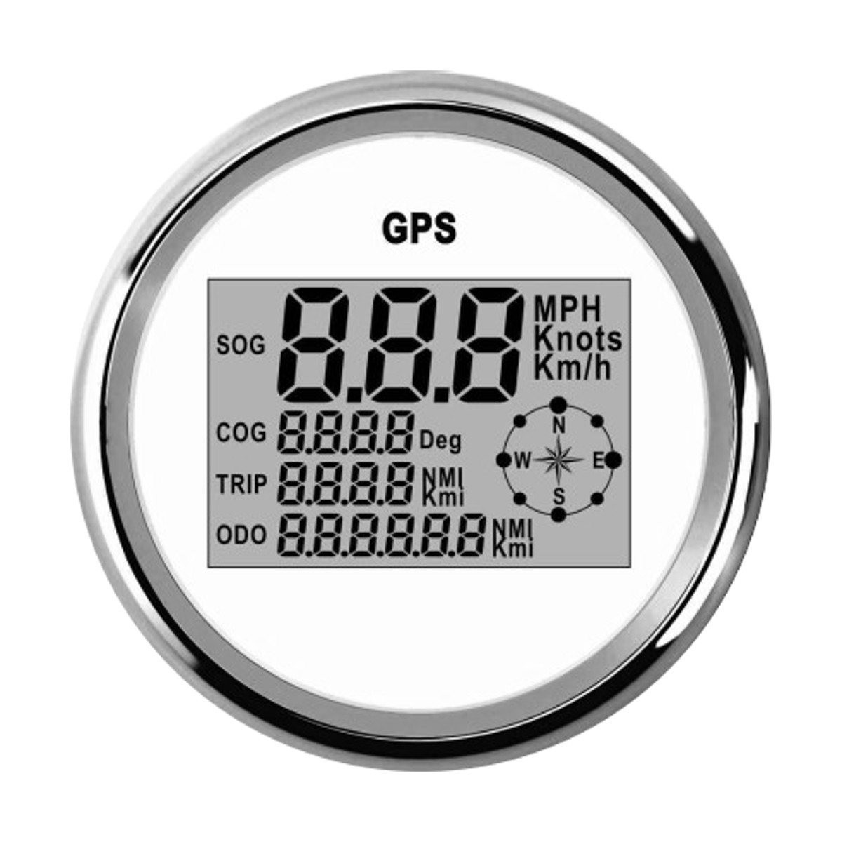 85mm Waterproof GPS Digital Speedometer Odometer