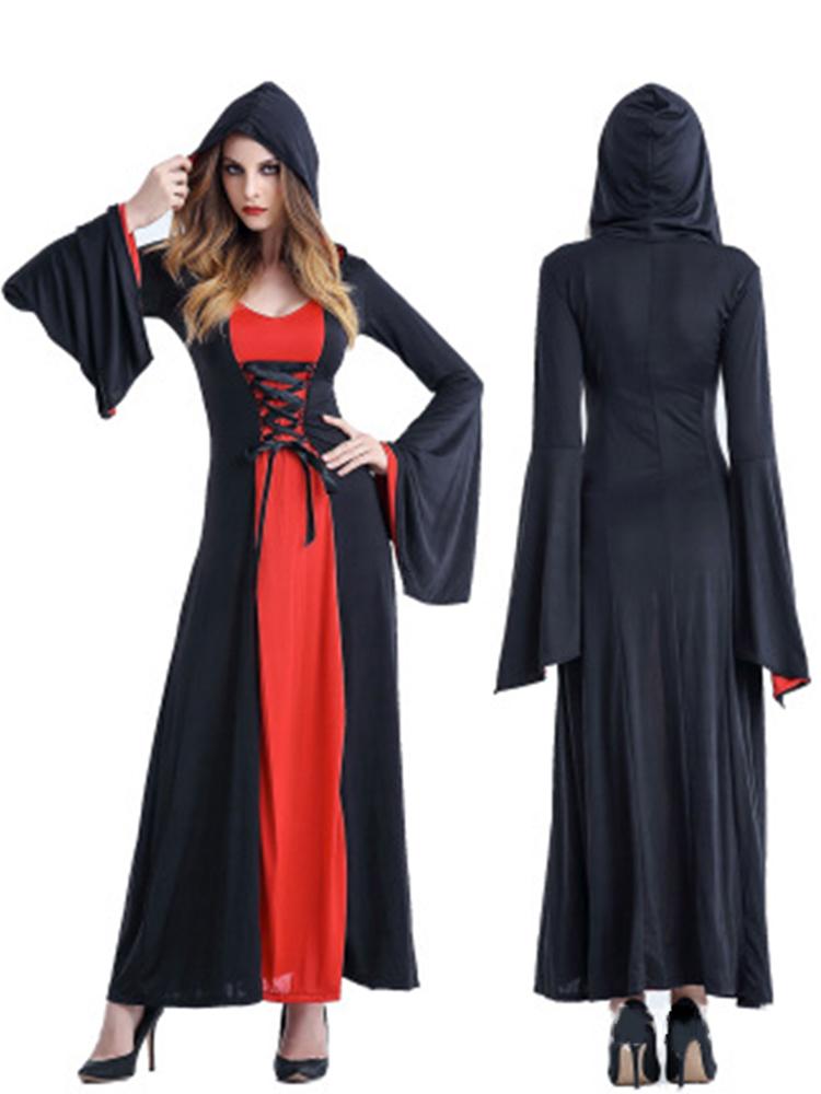 Хэллоуин Женское Костюм для судазы вампиров Платье с головным убором