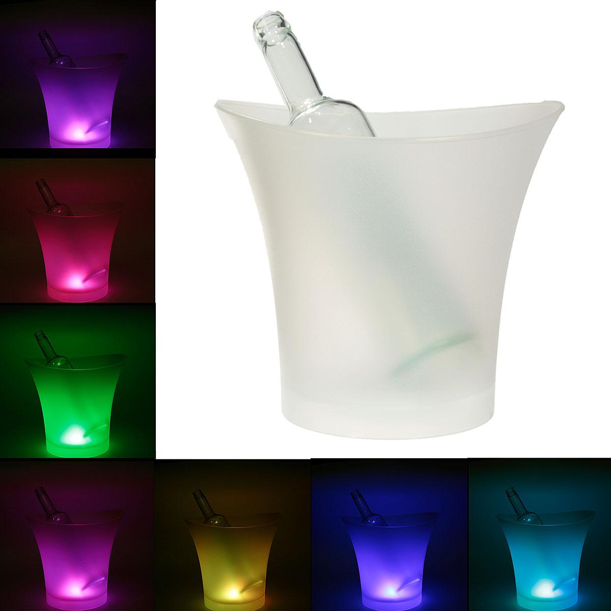 7цветовСветодиодныйIceBucketШампанское Винные напитки Пиво Ice Cooler Bar Party 5L
