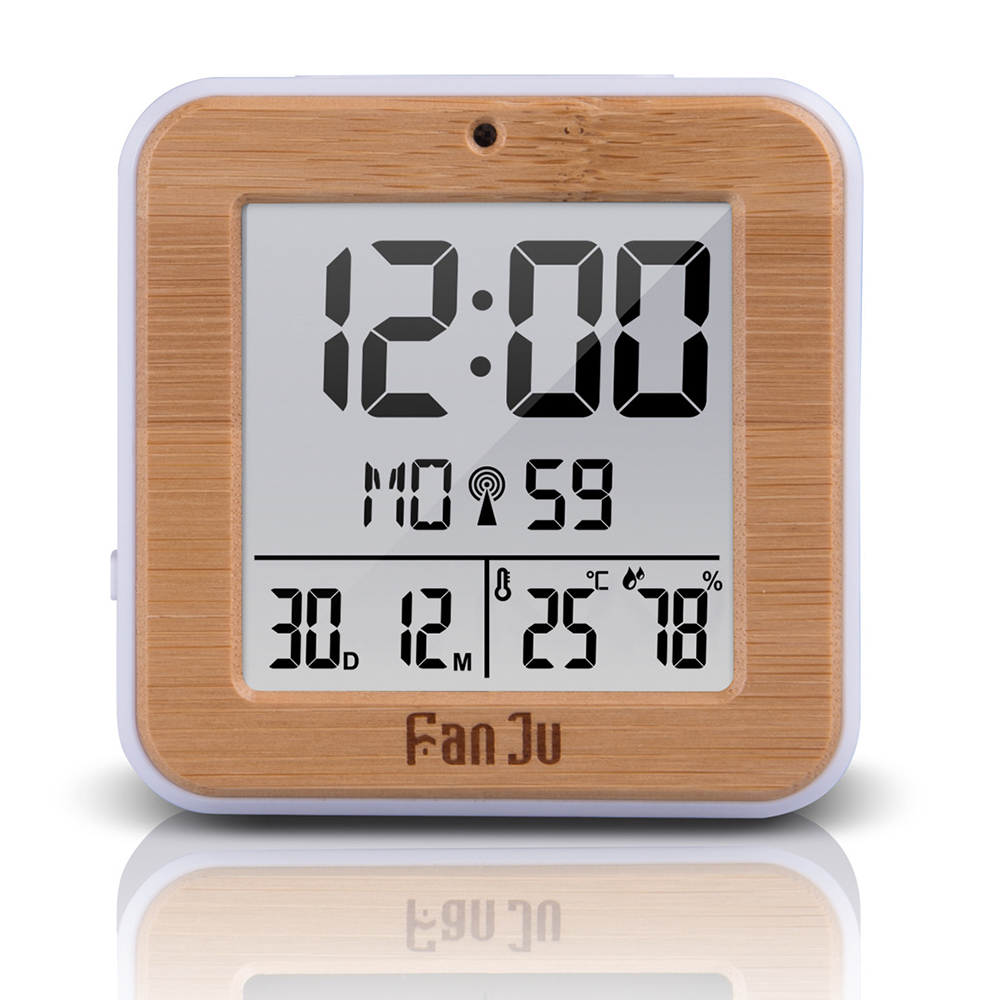 FanJu FJ3533 LCD Digital Alarm Clock Indoor Temperature Dual Alarm Snooze Backlight Function Date Display