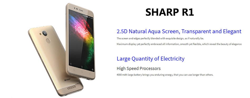 Sharp R1 Global Version 5 2 Inch HD 4000mAh 3GB RAM 32GB ROM MT6737 Quad  Core 1 25GHz 4G Smartphone