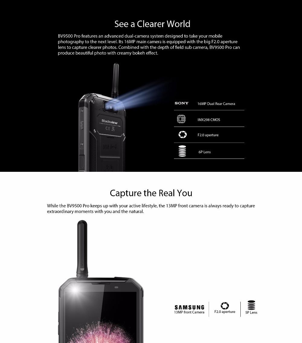 BLACKVIEW BV9500 PRO 5 7 inch IP68 10000mAh Wireless Charge NFC Waterproof  Dustproof Shockproof 6GB 128GB Helio P23 Octa Core 4G Smartphone