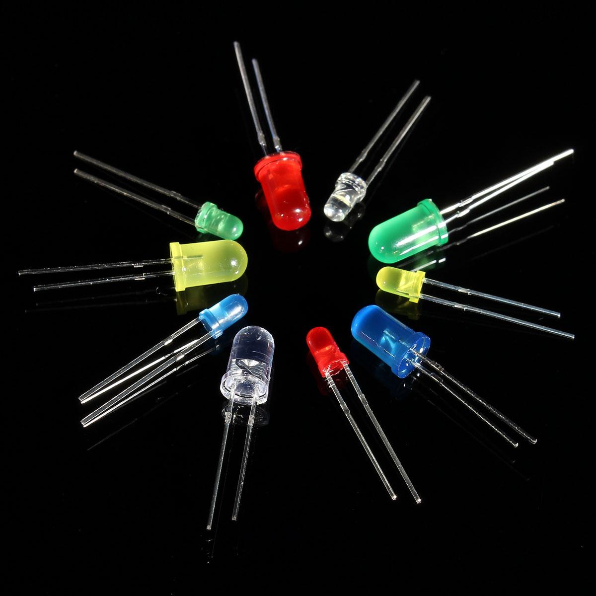 Geekcreit® 375pcs 3MM 5MM LED Light Emitting Diode Beads Resistance Lights  Kits Bulb Lamp