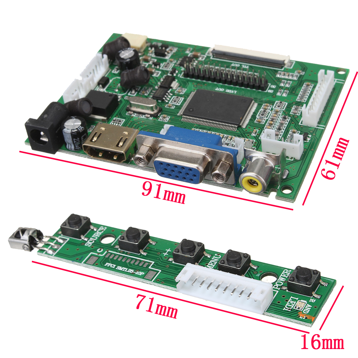 LCD Controller Board DIY Assembly Kit For 1366x768 15 6 Inch  LP156WH4(TL)(A1) LED Screen