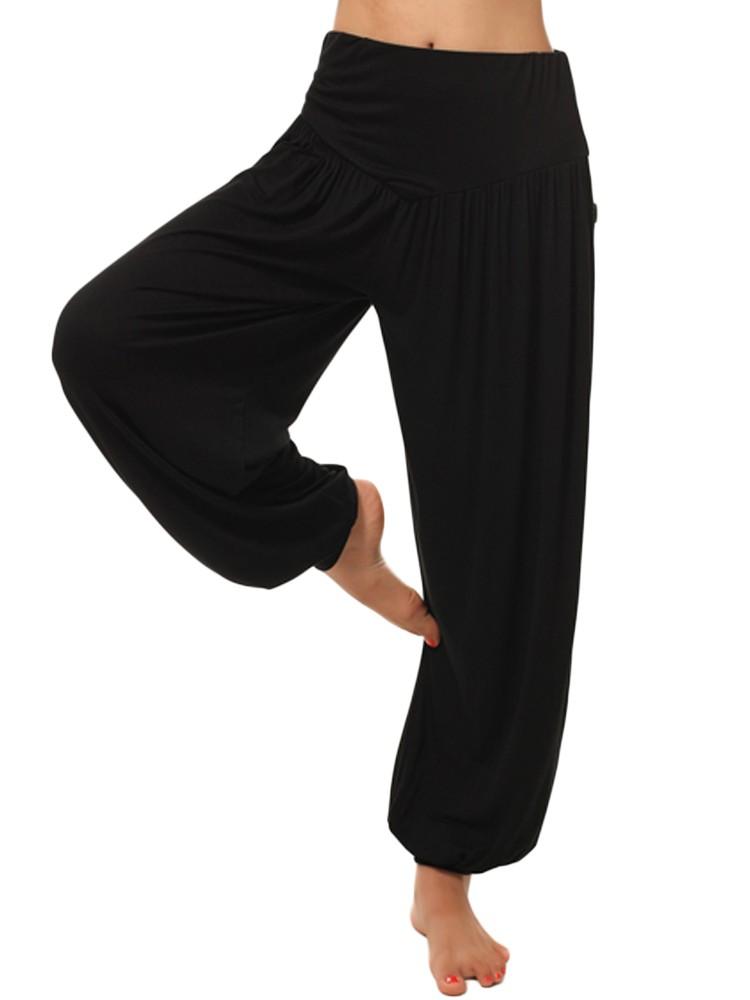 fa01193f162cf0 M-5XL Gracila High Waist Elastic Wide Leg Harem Yoga Pants Sport Dance  Loose Trousers