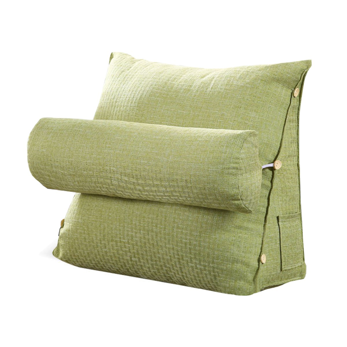 Triangle Wedge Pillow Cotton And Linen Reading Backrest Cushion Bed Backrest Ebay