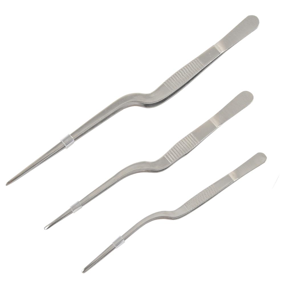 Нержавеющая сталь Медицинская Зубной Пинцеты прецизионного изгиба Пинцет 14 см 16 см 20 см
