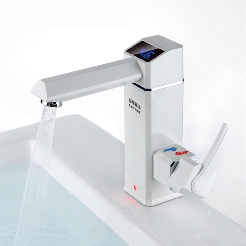 2500W Ванная комната Кухня Мгновенная LED Дисплей Электрическая вода Нагреватель Горячая вода Водопроводная крана Tankless