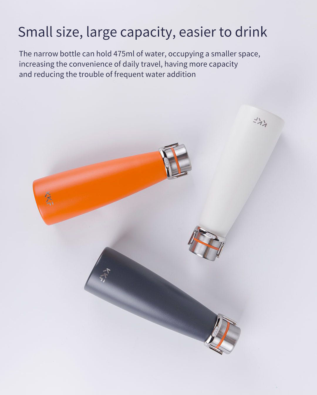 KISSKISSFISH SU-47WS 475M Vacuum Thermos Water Bottle Thermos Cup Portable Water Bottles 24