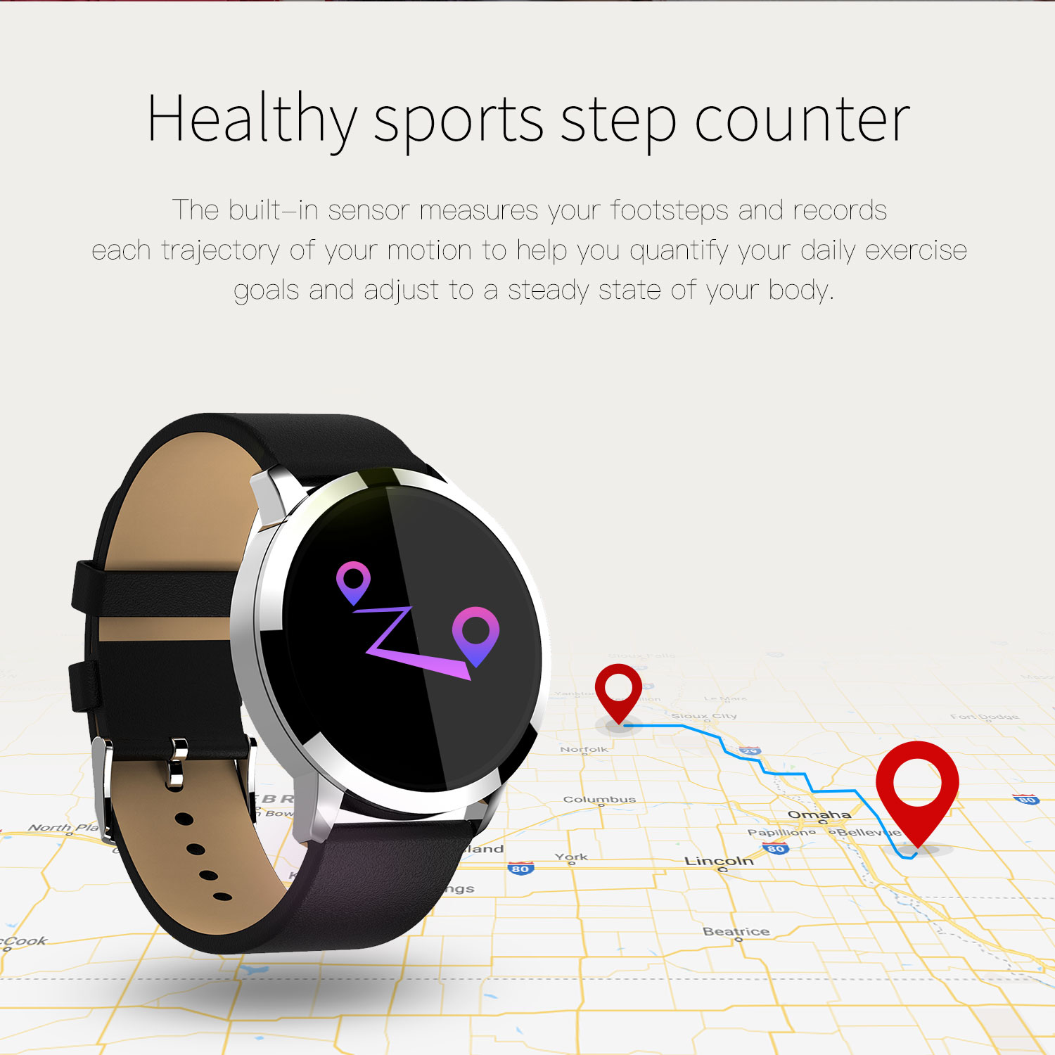 OUKITEL W1 Color Round Screen Blood Oxygen Pressure Heart Rate Long Standby Smart Watch