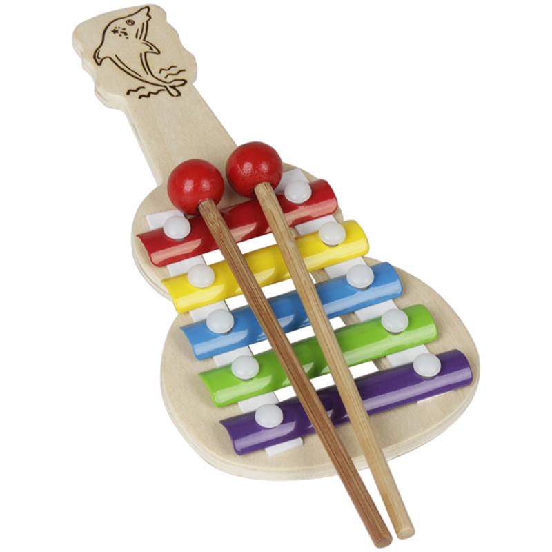 IRIN Орф Труба 5 тонов Алюминиевое фортепиано Случайный Шаблон Музыкальный инструмент для детей