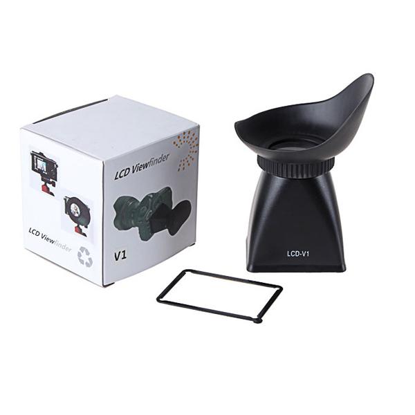 Оптическое стекло V1 LCD Монитор Видоискатель 2.8X Наконечник для лупы камера Шарнир салона DSLR 500D 7D 5D Mark II D700 D800