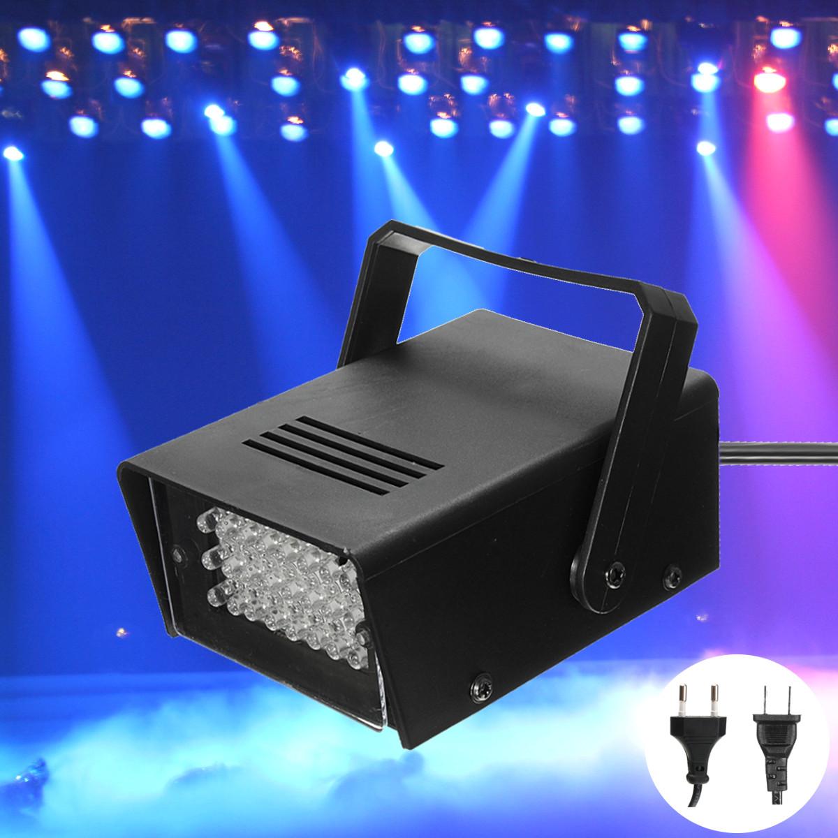 Мини-24 LED синий мигающий стробоскоп партия свет этапа диско-клуб ди-джей эффект освещения AC220V